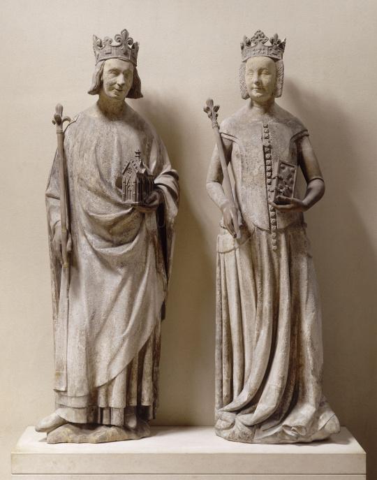 STATUES DE CHARLES V ET DE JEANNE DE BOURBON musée du Louvre