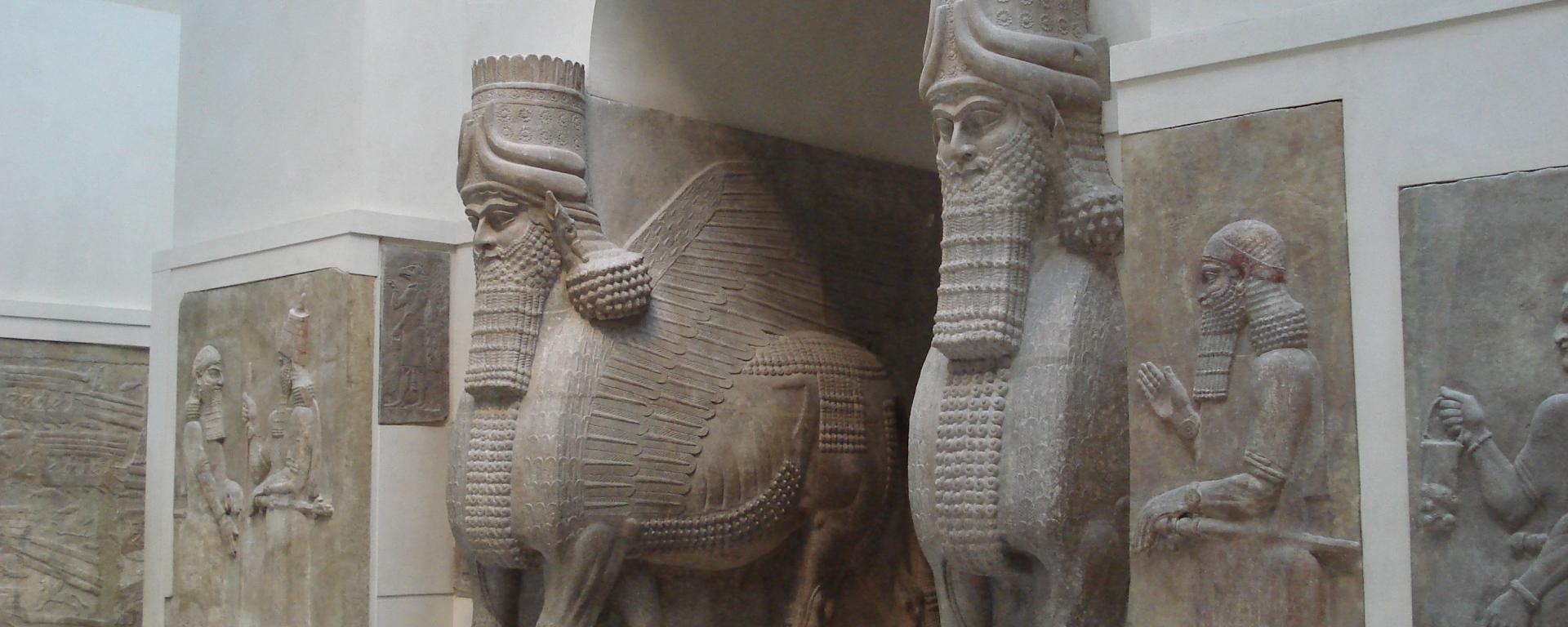 VESTIGES DU PALAIS DE KHORSABAD musée du louvre