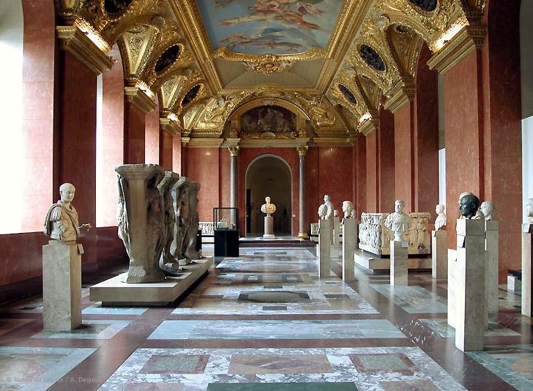 ANCIENNE SALLE DES ANTIQUES D'HENRI IV musée du Louvre