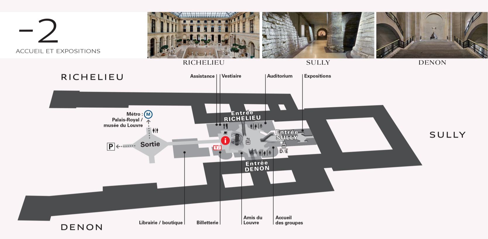 Plan du Musée du Louvre étage -2